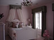 Shutters for a girl's bed room in Hinsdale Illinois.