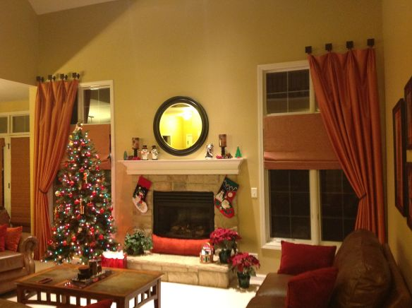 Family room draperies