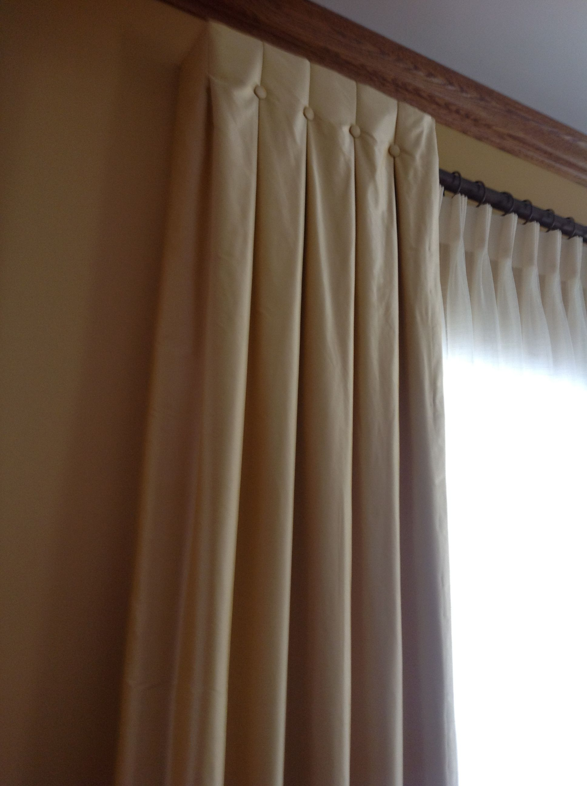 Curtains Ideas sheers and curtains : This is a great example of mixing textures with smooth and silky. Note ...
