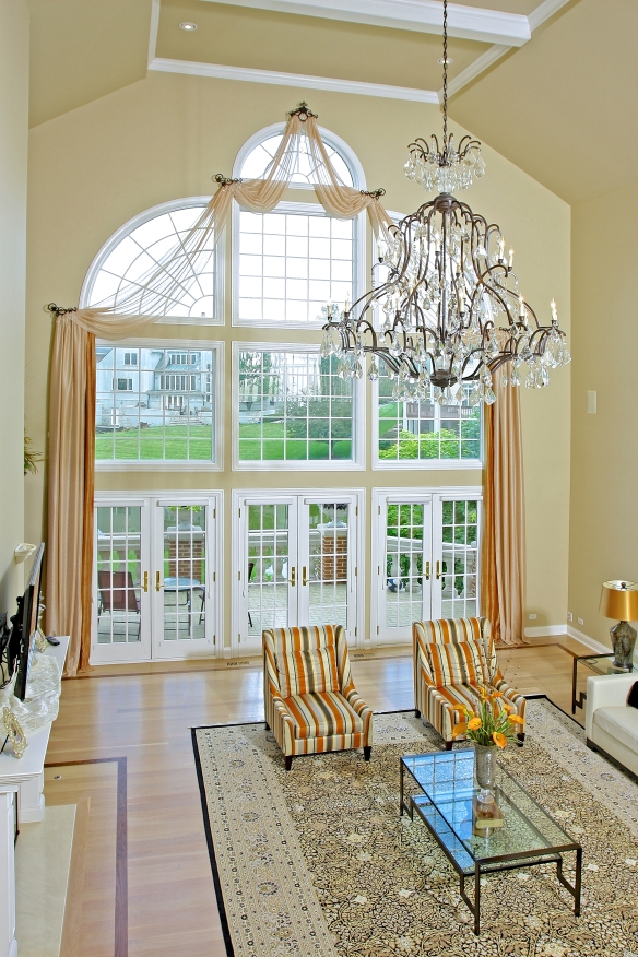 Family room designed by Susan Gailani