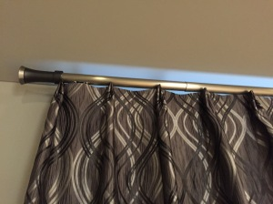 Two finger pleats and modern hardware, make this custom draperies outstanding!