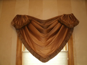 The room after installing a valance