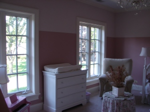Before adding draperies and valances.
